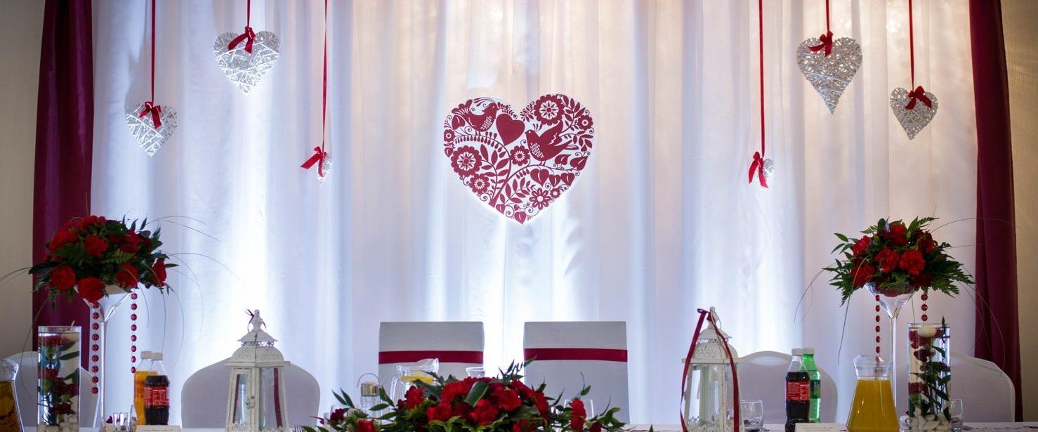 ozdoby sala weselna